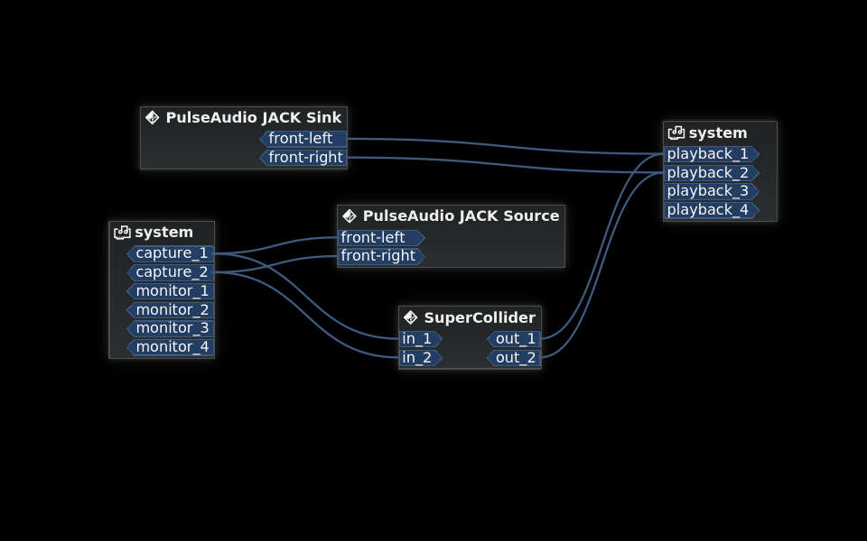 JACK server connections